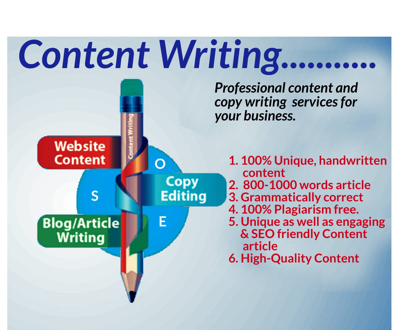 I will write a 800-1000 high quality SEO optimized article or blog post