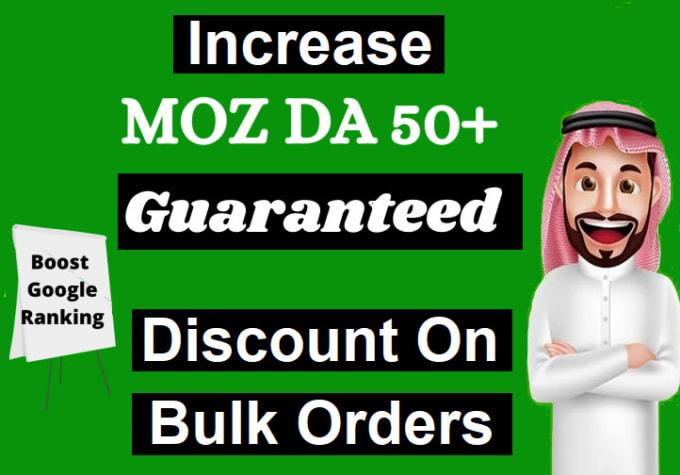 I will increase domain authority increase moz da 25 plus
