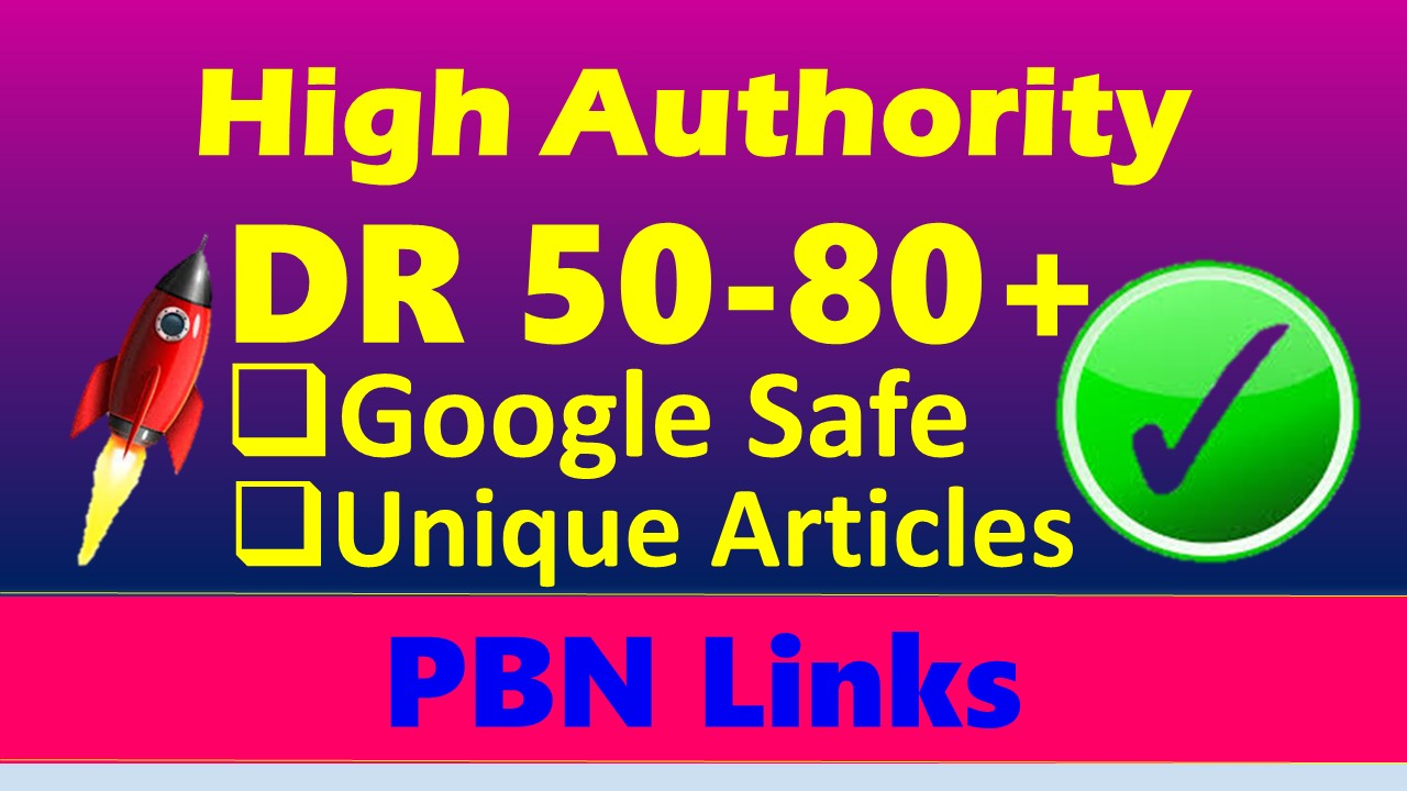 I'll build 10 seo dofollow DR 50 to 70 high quality backlinks