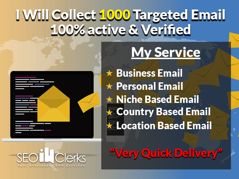 I Will Provide 1000 Targeted Email in Just 24hr