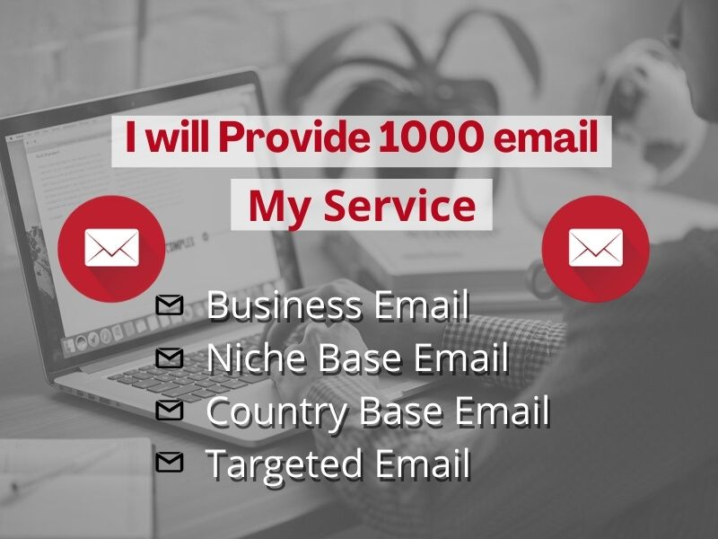 I will provide 1000 Niche targeted active Email list