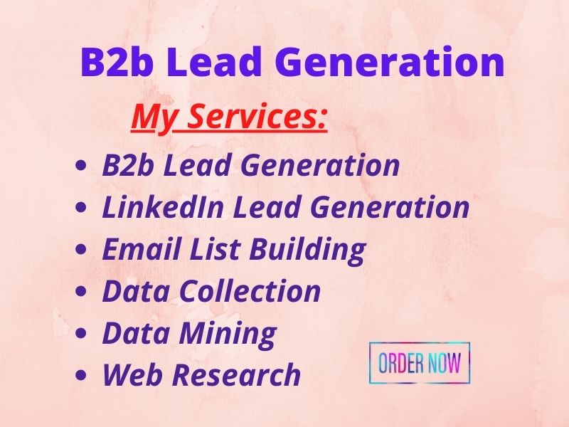 I will do targeted b2b lead generation