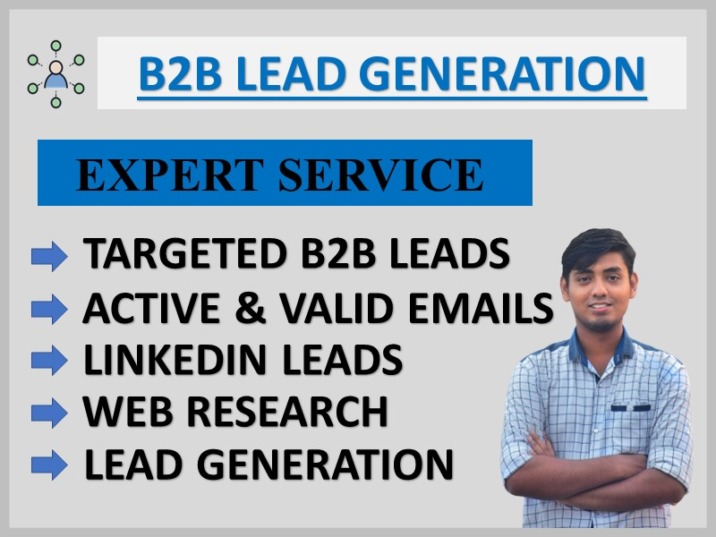 I Will Provide B2B LinkedIn Lead Generation and Targeted Email List