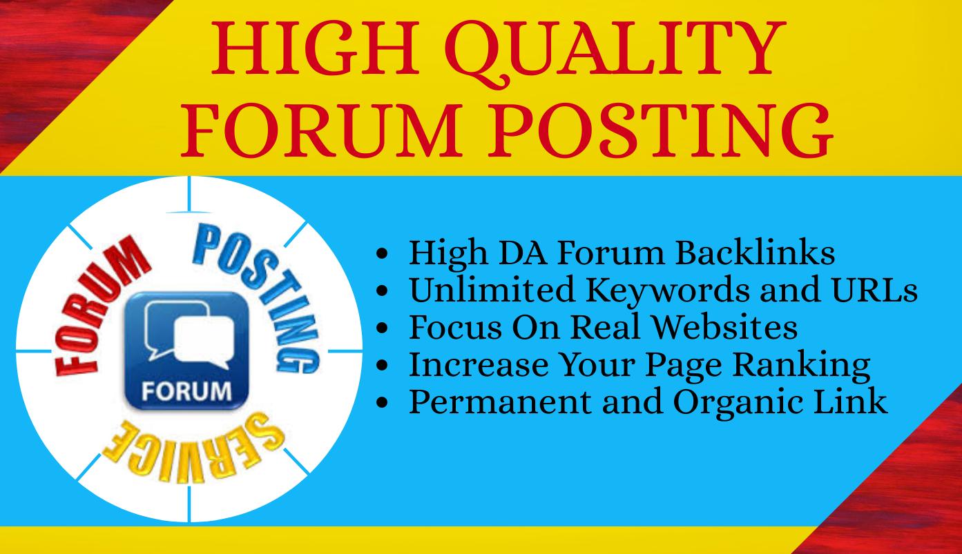 I Will Create 25 High Quality Forum Posting SEO Backlinks