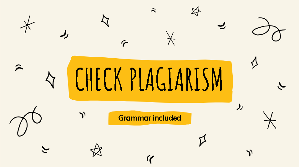 I will check plagiarism and grammar in one day