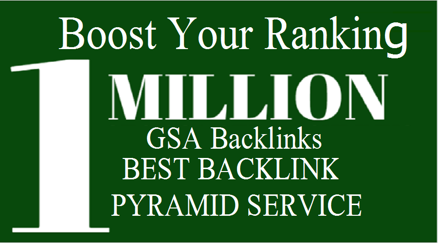 Get GSA backlinks pyramid using search enging ranker