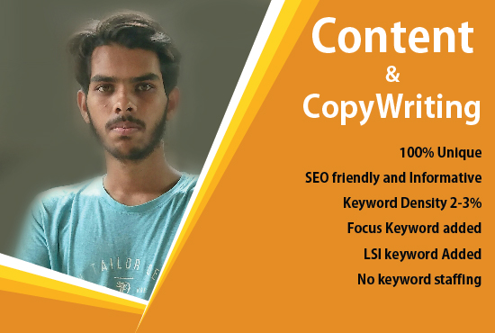 I will write Unique and SEO friendly Content and Article