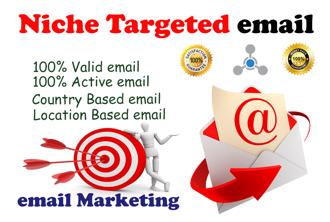 I will collect 5k any Niche Targeted Verified email list for marketing