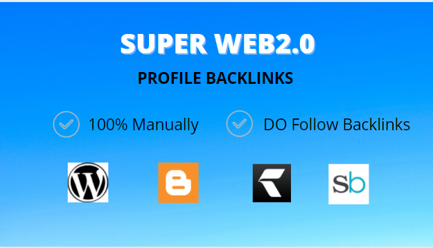 I will make manually 30 google high authority web 20 backlinks