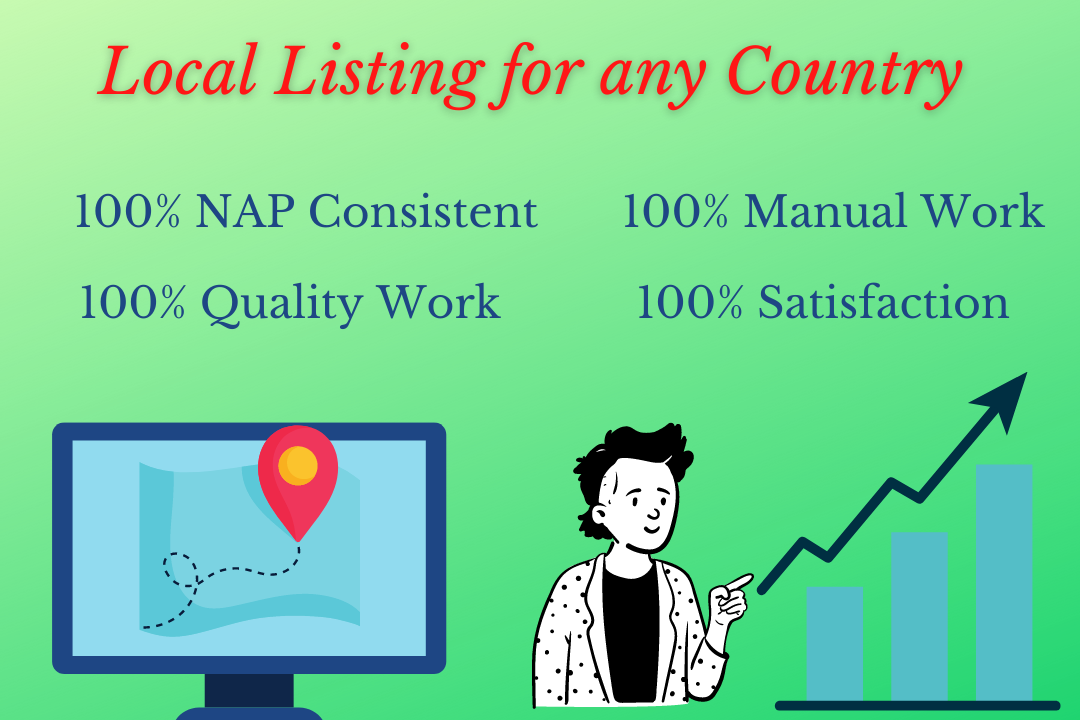 I will do 100 local citations for any country