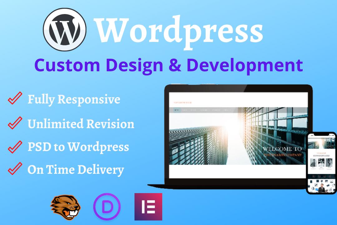 I will design an outstanding wordpress website