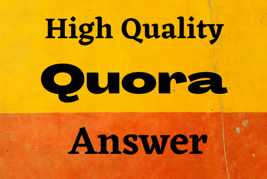 Offer High quality traffic with 50 quora answers