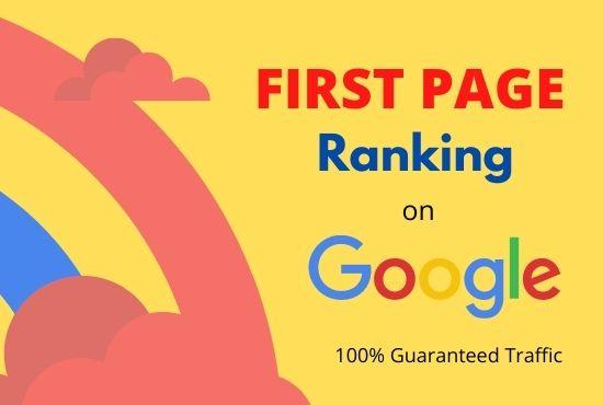 Guaranteed Google 1st Page Ranking SEO Service.