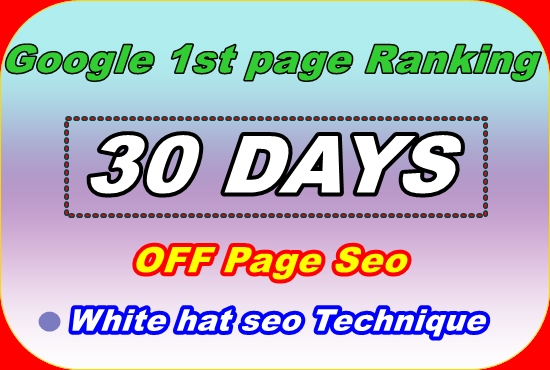 Complete white hat monthly off page SEO service for google top rank