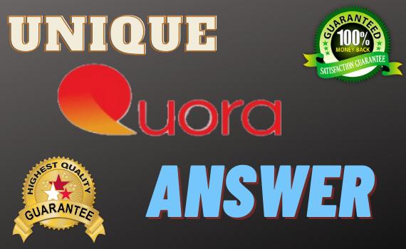 10+ unique quora answer For Guaranteed Traffic