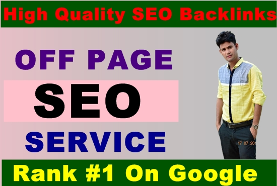 I will provide google 1st page ranking with off page SEO service,  manual high quality backlinks