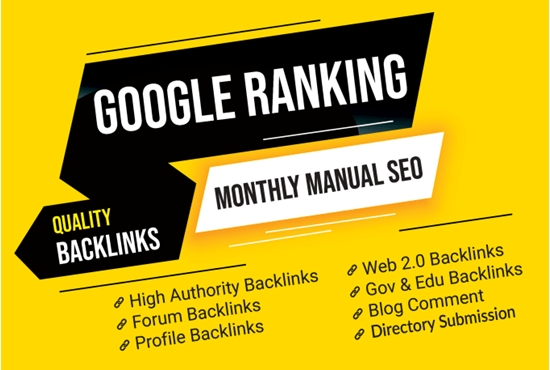 I will complete white hat monthly SEO service