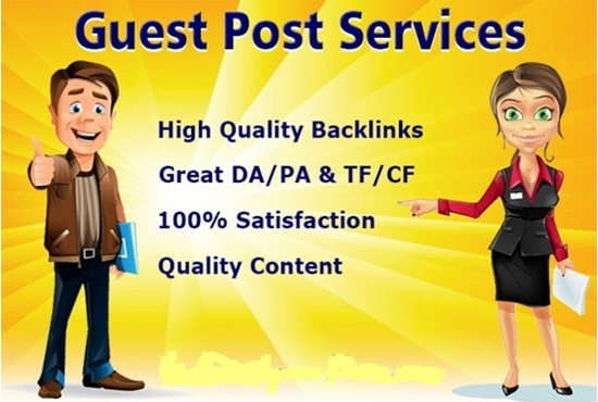 I will write and publish 1 guest post with high da pa