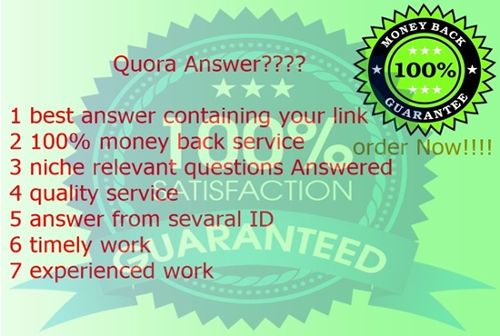 Guaranteed targeted traffic with 21 unique Quora answer
