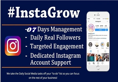 I will professionally 07 days manage your Instagram