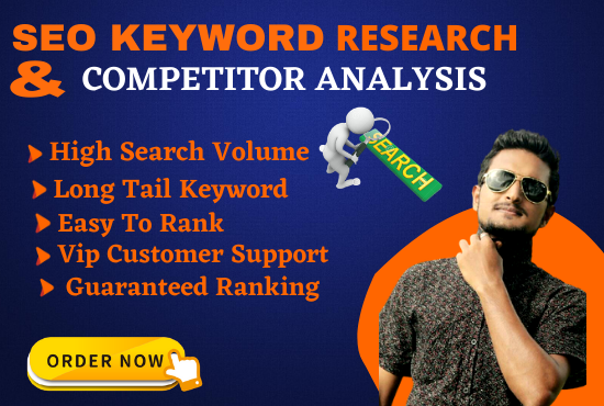 I will find the best keyword research for your website and competitor analysis