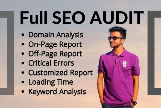 I will do manual SEO Audit to findout your website Error