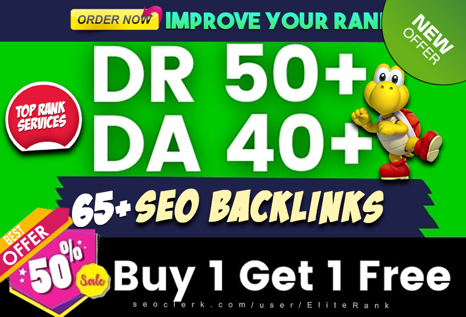65 high quality dofollow SEO backlinks link building google top ranking