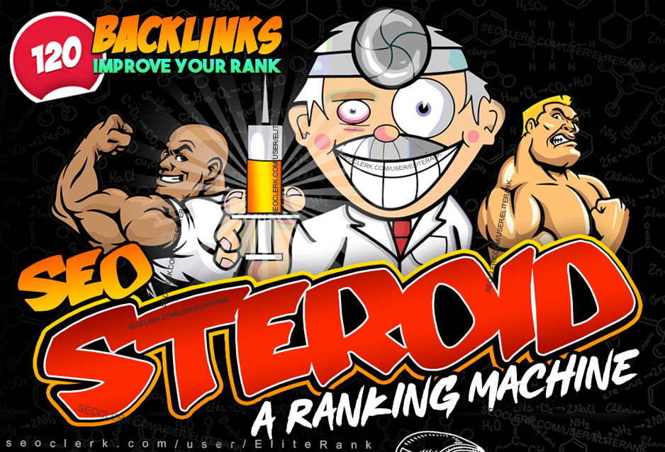 STEROID SEO backlinks improve your google ranking manually