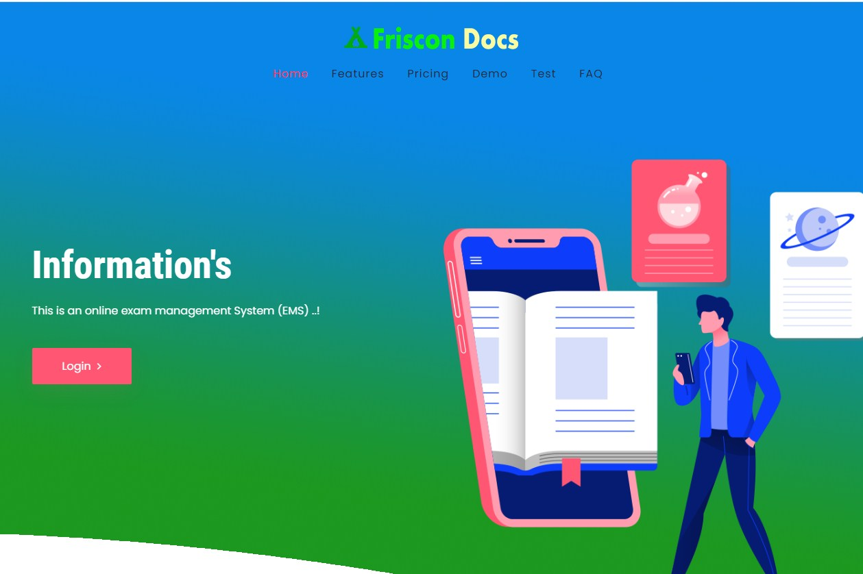 Online exam management system PHP website with mobile app