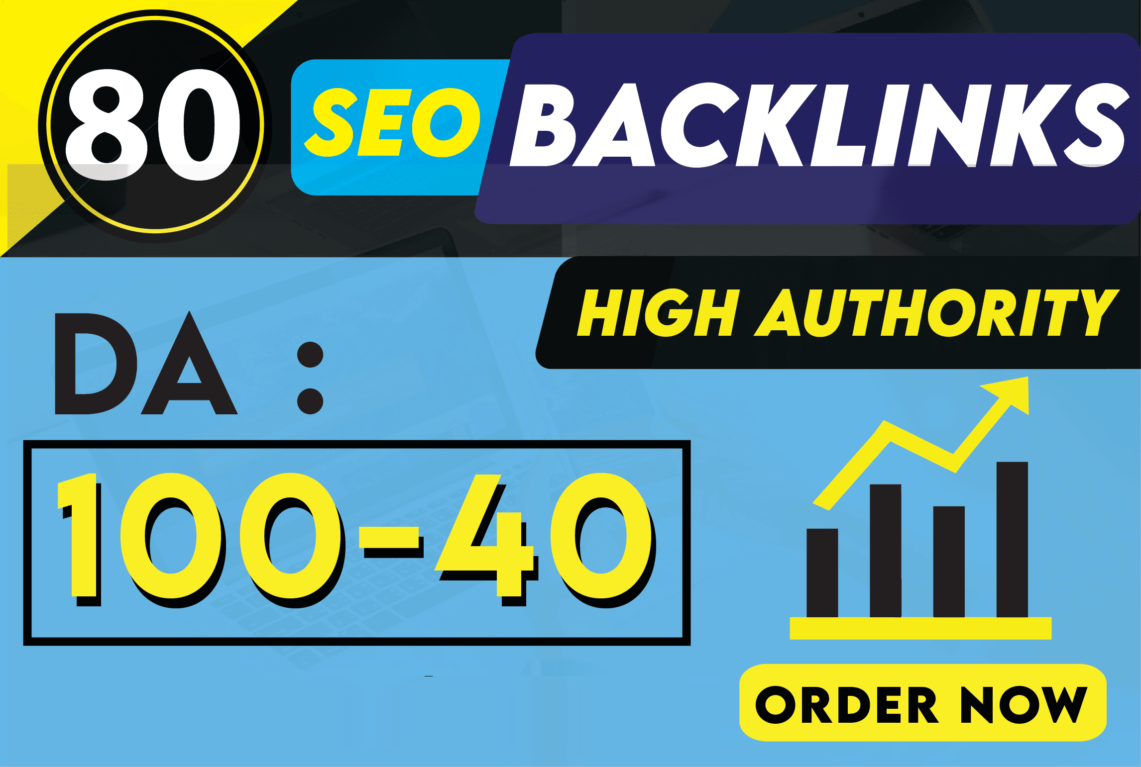 build 80 high authority da 100 to 40 seo backlinks manually