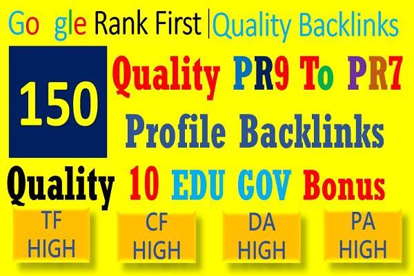 do top google ranking with 150 seo profile backlinks