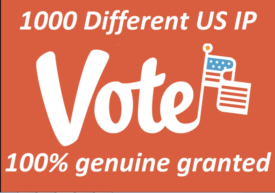 HQ 1000 votes for your any online voting contest