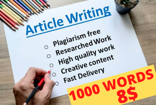 I will be your Professional SEO Optimized Article Writer for Content & Article Writing,  Blog Writing
