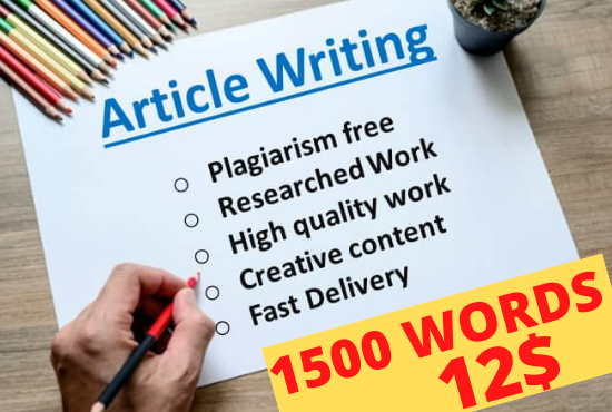 I am Professional SEO Optimized Article Writer for Content & Article Writing,  Blog Writing