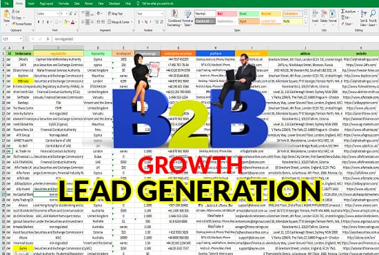 I will provide 200 b2b lead generation of targeted niche