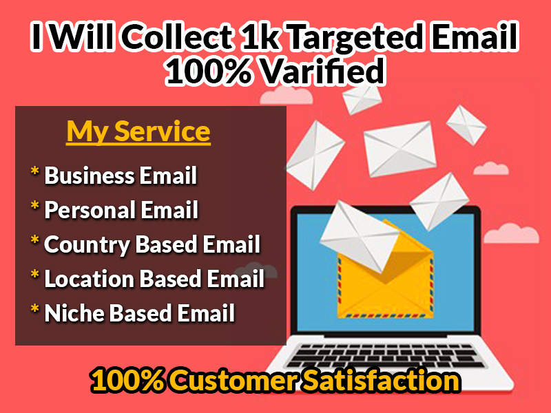 I will collect 1k targeted valid email list