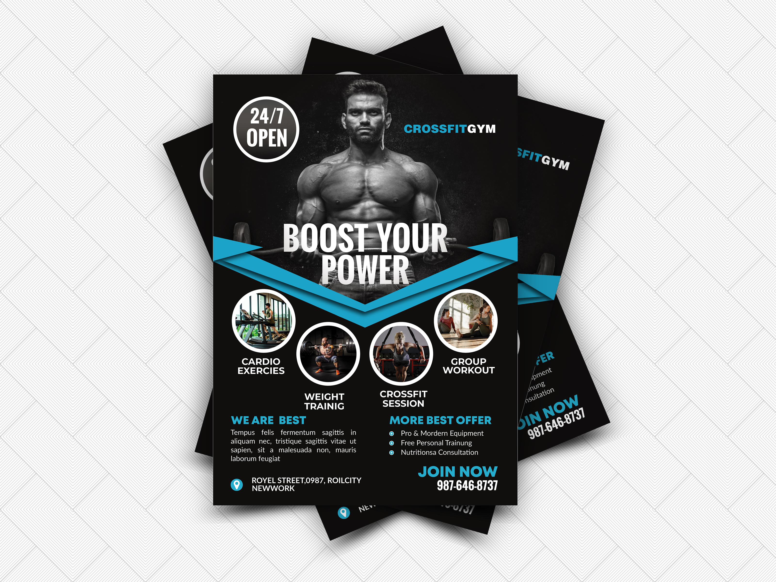 I will do Professional and Unique flyer design within 12 hours