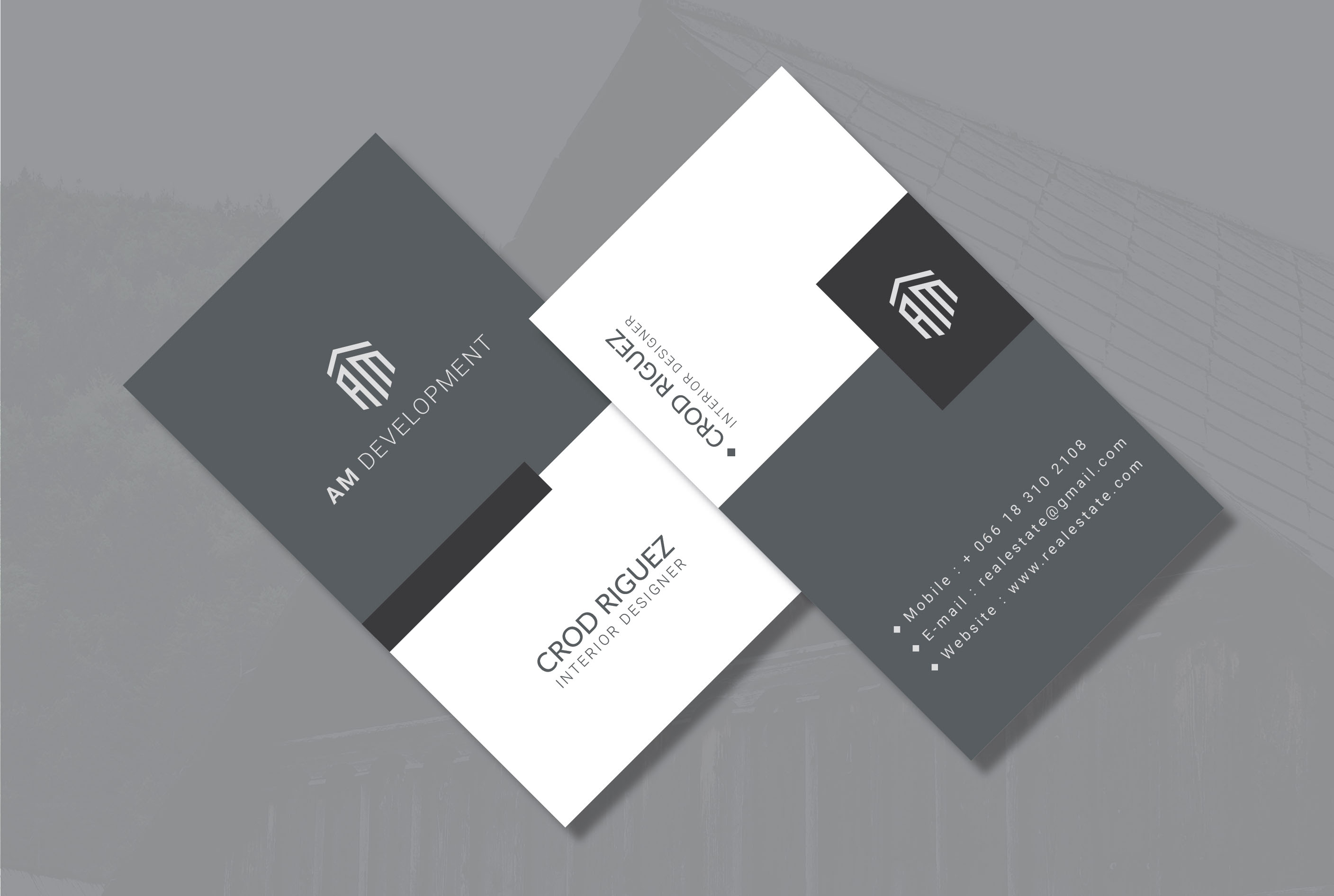 I will design a minimalist business card for you with two concept