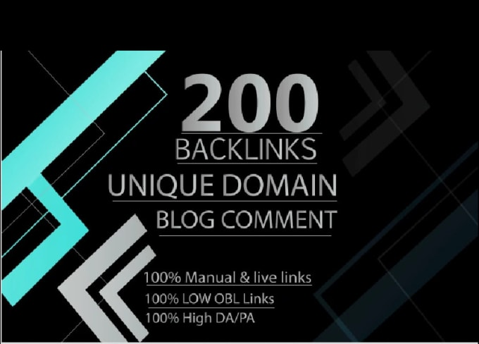 I will manually do 200 unique domain backlinks low obl