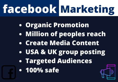 I will do Facebook promotion for your website or product over millions of targeted people