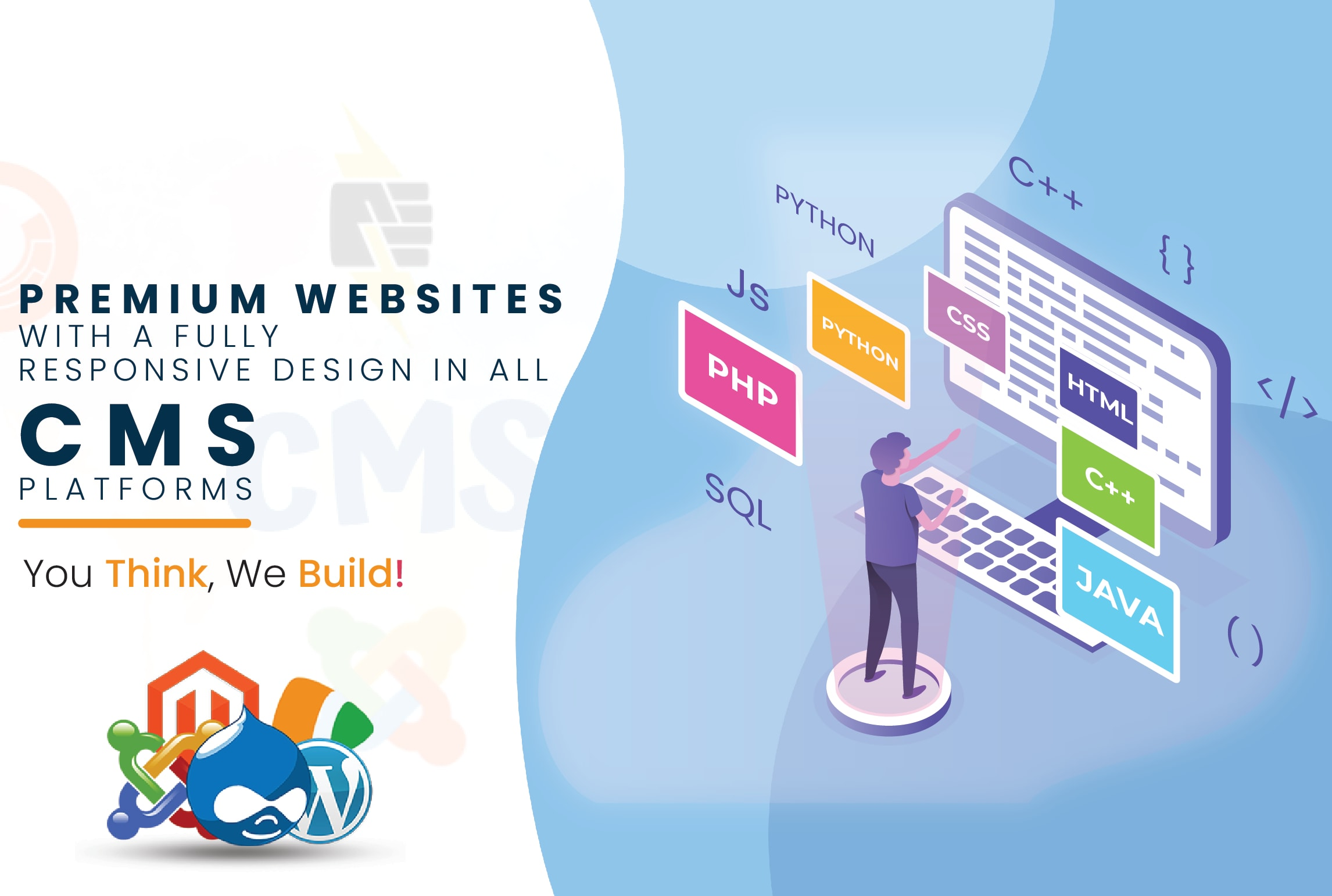 I will design a responsive website in all cms platforms for you