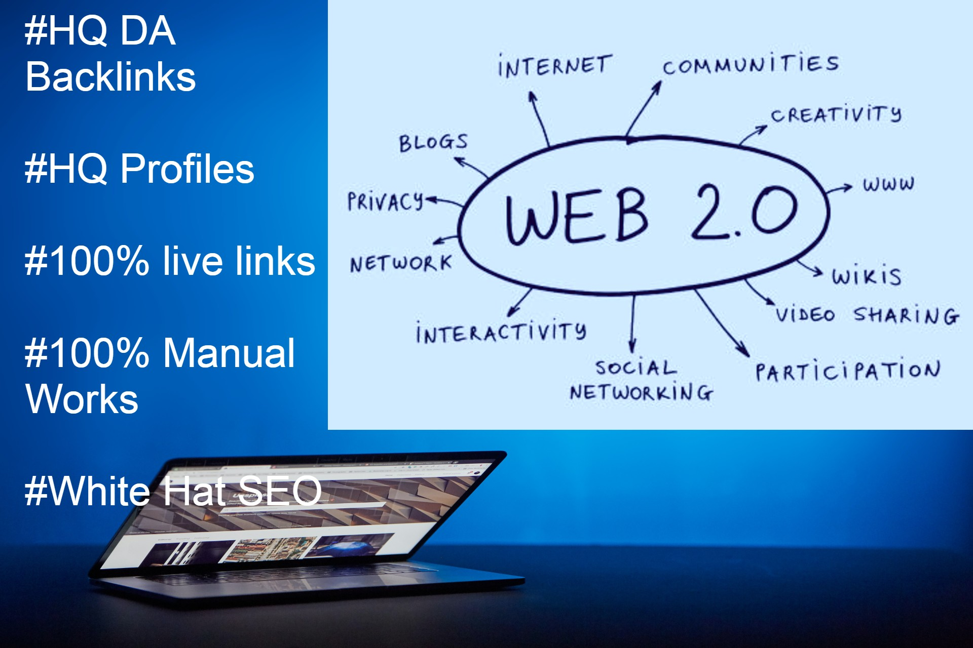 I Will Manually Create HQ Super Web 2 0 Backlinks Contextual links