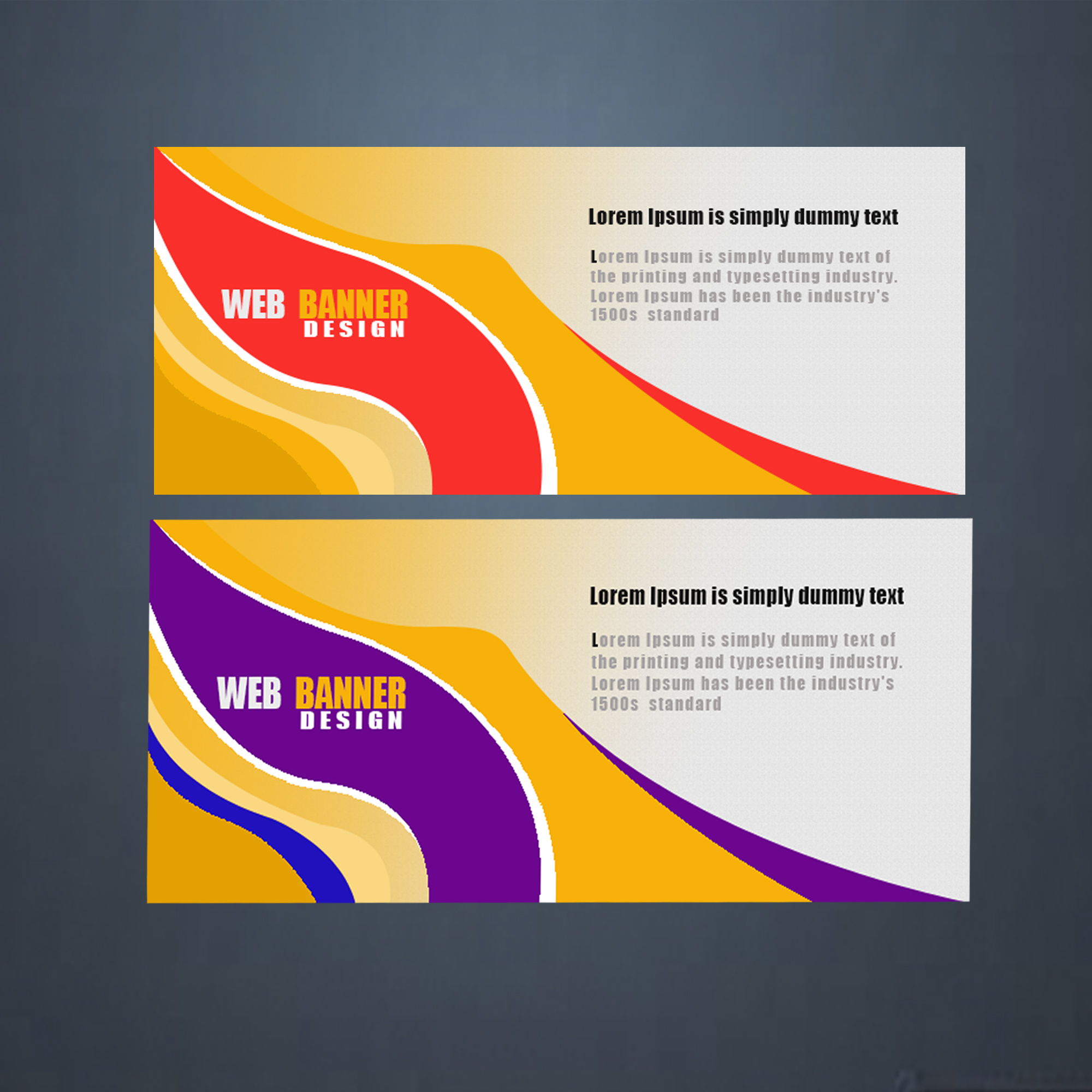 I will design awesome web banner,slider,poster,facebook cover, youtube banner, social media cover