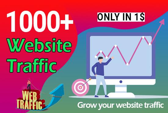 1000+ Worldwide Website Traffic
