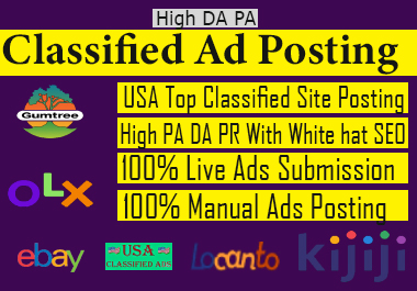 I will do High quality free Classified ad posting in USA