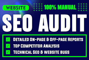 Professional SEO analysis report within 24 hours