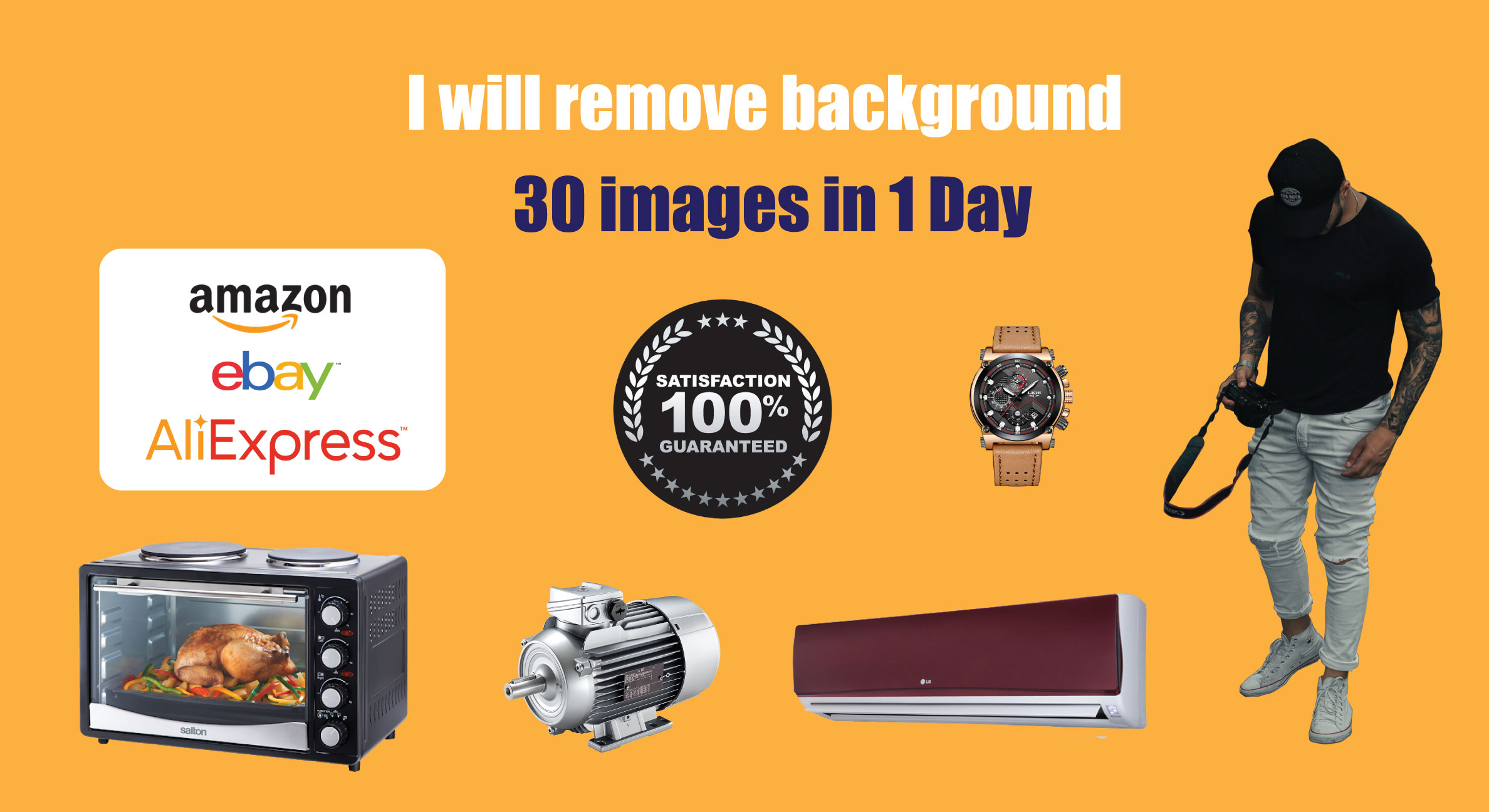I will remove background 30 images in 1 Day
