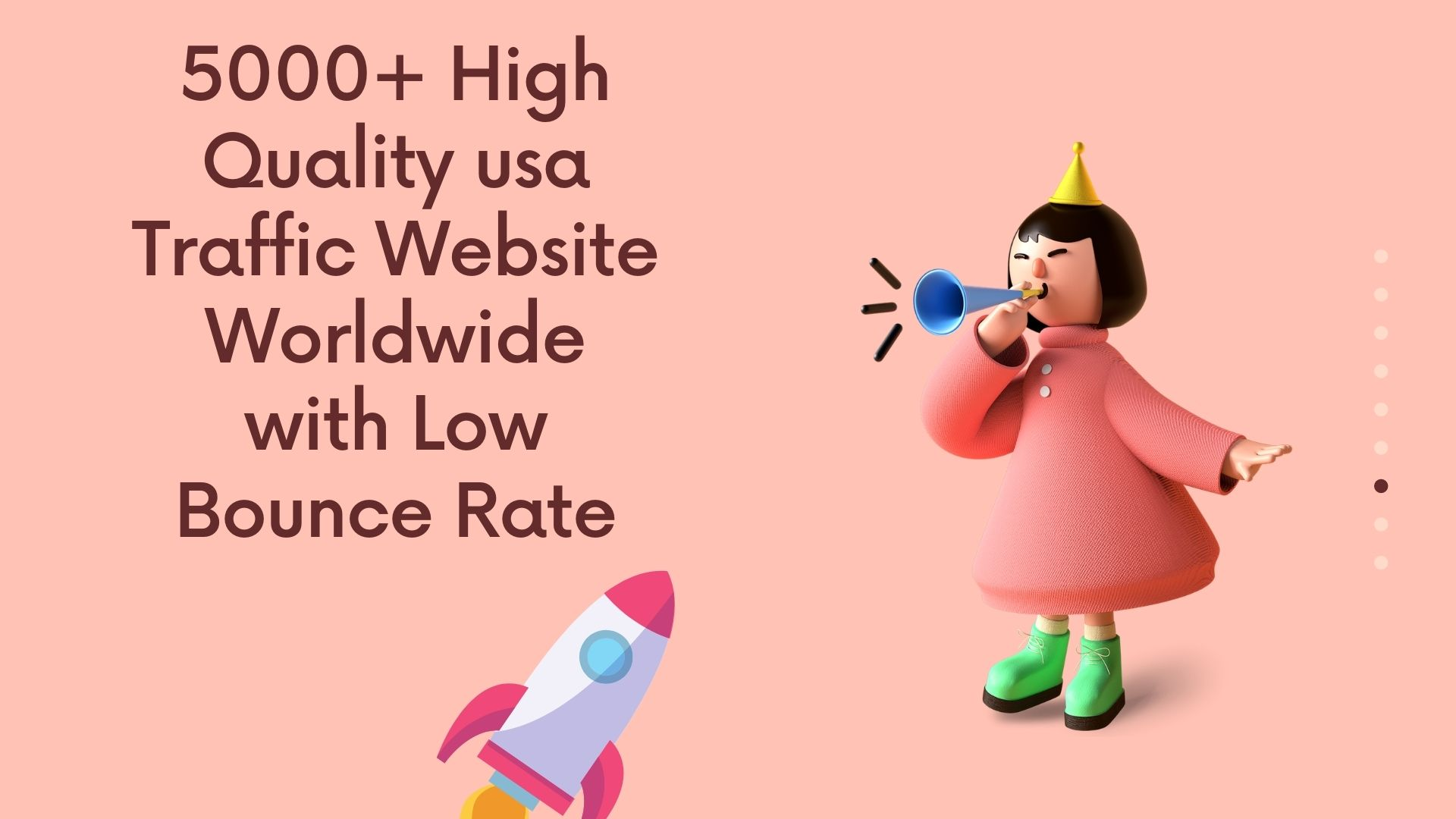 5000+ High Quality usa Traffic Website Worldwide with Low Bounce Rate
