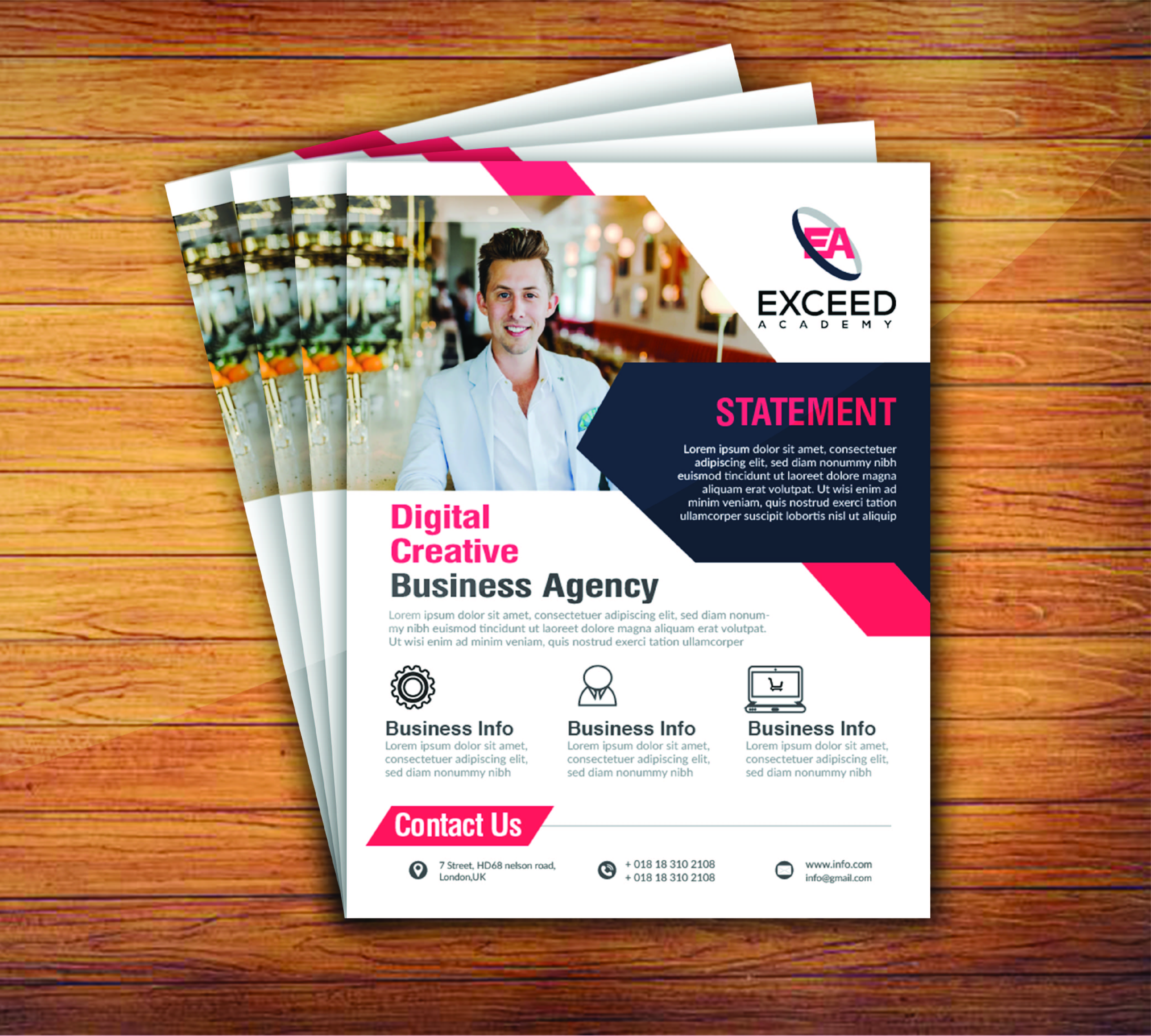 I will do design flyer for your business