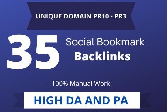 create manually 35 pr10 social bookmark backlinks